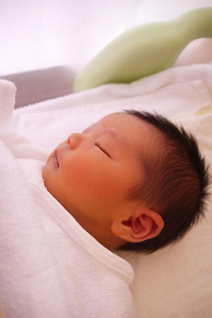 産後1週間の次男