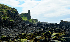 Dunure Waterside (Travis Pictures) Tags: dunure scotland ayshire southayrshire coast seaside clyde firthofclyde doonvalley outdoors sunny clouds sky nikon d5200 photoshop britain uk irishsea westcoast rocks