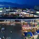 駅前広場の写真