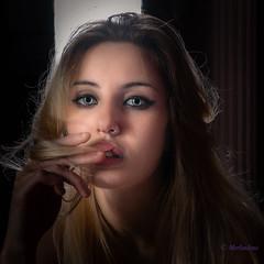 Sarah (Merlindino) Tags: sarah portrait ritratto beauty greeneyes sony