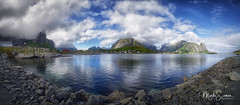 Panoramic view of Reine (marko.erman) Tags: lofoten norway nordland reine village fishermen sea mountains water clouds beautiful sony scenic idyllic nature outdoor outside travel popular quiet serenity pure transparency landscape nordic sunset steep serene montagne paysage eau panorama stitching steepmountains changingweather panoramic