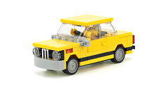 Yellow BMW 2002 (de-marco) Tags: lego town city car vehicle 4wide classic 4stud 4wlc