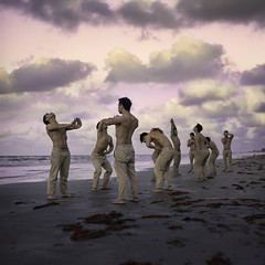 Fifth Movement. (Adam Hague) Tags: canon 50mm square emotion oa fifth dance movement art boy beach red sand sky photoshop adobe