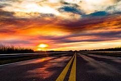 Atardecer en la Ruta La Pampa 1 (Martin Antolin PH) Tags: paisaje landscape sunset sunrise atardecer contraste highcontrast altocontraste contraluz color sky pink orange