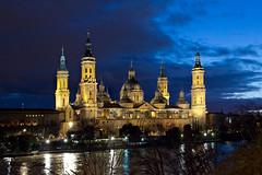 Basílica del Pilar (raquel_felez) Tags: pilar azul zaragoza 2019 crecidadelríoebro horaazul zaragoza2019