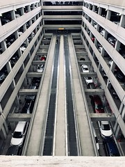 parking levels (brown_theo) Tags: perspective automobiles parking movingsidewalk garage ohio columbus airport international glenn john cmh