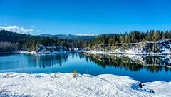 Shawnigan Lake Rock Quarry - Kingzett Lake (Per@vicbcca) Tags: shawniganlake ilce7m2 sony landscape aurora19 photographiadepaisaje snow vancouverisland britishcolumbia canada kingzettlake quarry
