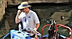River Boat Captain (miosoleegrant2) Tags: river boat man hat men guy guys dude male studly manly dudes handsome face profile stud neck working arms condid unware unexpected portrait facial hunk sexy masculine people persons riverwalk tour guide stories city culture history