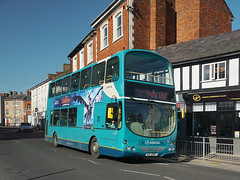 Arriva Midlands 4012 (Jason 87030) Tags: bus arriva midlands chips route service x84 leicester blue doubledecker turquoise plates church st street shops rugby town warks warwickshire february 2019