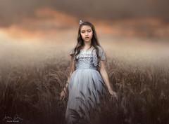Wonderland ({jessica drossin}) Tags: jessicadrossin dress portrait wwwjessicadrossincom clouds sky field dreamy