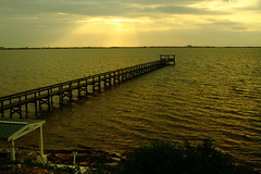 OF CLOUDS AND SUN (R. D. SMITH) Tags: river pier clouds morning canoneos7d shore florida light indianriver sun