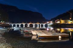 Adda river (M-Gianca) Tags: river fiume adda ponte lecco notte night sony a6500 acqua water bridge boat barche