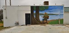 Watching the Tennessee River Roll on By (BKHagar *Kim*) Tags: bkhagar mural outdoor painting large man river tennesseeriver urbanart timstevenson killen al alabama thesouth lauderdalecounty
