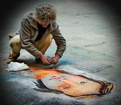 the street art wizard (kurtwolf303) Tags: streetart person art artist strasenkünstler man mann street canoneos600d kurtwolf303 graffiti streetphotography unlimitedphotos