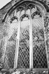 (a.pierre4840) Tags: olympus xa 35mm f28 35mmfilm agfa apx400 bw blackandwhite noiretblanc church window reflection dorset england wareham