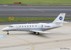 Hahn Air Cessna 680 Citation Sovereign D-CHRD (birrlad) Tags: dusseldorf dus international airport germany aircraft aviation airplane airplanes bizjet private passenger jet dchrd cessna 680 citation sovereign c680 hahn air rooster taxi taxiway apron ramp