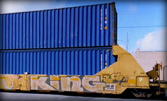 (timetomakethepasta) Tags: king king157 rtm freight train graffiti art intermodal