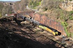 Colas 70 In The Clearance. (Neil Harvey 156) Tags: railway 70805 addingford horbury wakefield prestondockstanks prestontanks bitumentanks 6e32 class70 colasrail colas
