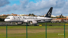 N14120 United Airlines Boeing 757-200 - Star alliance livery (José M. F. Almeida) Tags: spotting lisboa lisbon lis lppt aircrafts airplane airport airlines airways aircraft n14120 united boeing 757200 star alliance livery