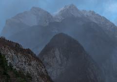 Julian Alps (happy.apple) Tags: slovenia slovenija julijskealpe julianalps alps mountains snowfall sneg clouds winter zima