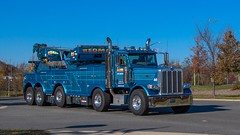 Peterbilt 389 (NoVa Truck & Transport Photos) Tags: peterbilt 389 twin steer rotator heavy wrecker tow truck jerrdan redman fleet services lorton va