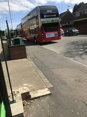 Nct 411 Red Line 44 (Snape Bus Pics) Tags: 411 scania yp17ugc redline44 nottinghamcitytransport enviro400 nct