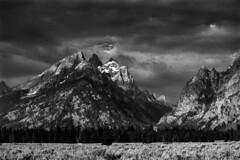 Tetons (chrislon28) Tags: nationalpark blackandwhite film canonfilm ftb fd 35mm landscape wyoming kodak plusx iso125