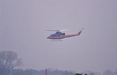 Berlin SXF 2002 Ambulance  Hubschrauber (rieblinga) Tags: berlin sxf schönefeld flughafen 2002 ila hubschrauber ambulante flug analog canon eos 1v kodak ebk 100 diafilm