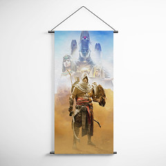 Assassin's Creed 25 Origins Decorative Banner Flag for Gamers (gamewallart) Tags: background banner billboard blank business concept concrete design empty gallery marketing mock mockup poster template up wall vertical canvas white blue hanging clear display media sign commercial publicity board advertising space message wood texture textured material wallpaper abstract grunge pattern nobody panel structure surface textur print row ad interior