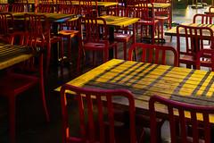 Sunshine (Photo Alan) Tags: vancouver canada sunshine sun light lights chairs chair red shadow shadowplay