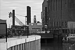 Views on The River Hull  Monochrome (brianarchie65) Tags: chimney river water derelict cranes building barge sky unlimitedphotos ngc canoneos600d geotagged brianarchiie65 reflectiononwater monochrome blackandwhite blackandwhitephotos blackandwhitephoto blackandwhitephotography blackwhite123 blackwhiterealms flickrunofficial flickr flickruk flickrinternational ukflickr riverhull kingstonuponhull hull