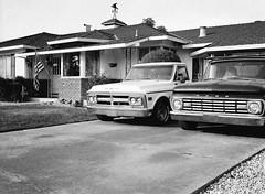 San Jose (bior) Tags: fujifilmga645zi ga645zi 6x45cm sanjose mediumformat 120 trix kodak pickuptruck truck car driveway house gmc ford