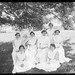 Group of staff on the lawn, Greycliffe Babies Hospital