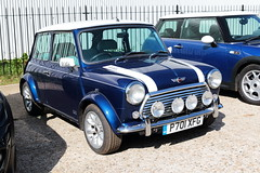 1997 Rover Mini Cooper P701XFG Brooklands Mini Day March 2019 (davidseall) Tags: rover mini cooper car classic original old shape style great british brooklands day march 2019 weybridge surrey uk p701xfg p701 xfg 1997