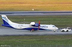 IndiGo ATR-72 F-WWEN (VT-IYY) (birrlad) Tags: toulouse tls international airport france aircraft aviation airplane airplanes airline airliner airlines airways tow taxi taxiway test delivery atr atr72 atr72600 indigo fwwen vtiyy