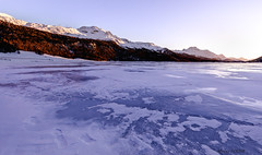 frozen lake (Misch el) Tags: water lake frozen ice cold sunset winter alps alpine alpen valley switzerland europe travel canon eos 5d4 5dmark4 mountains sun mountain beautiful place