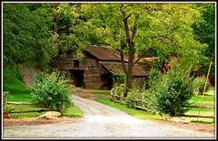 HFF - Explore #25 (Jerry Jaynes) Tags: labordayweekendsc2015 hff barn farm fence sc nikkor1685vr meecemillrd pickens pickenscounty rock trees
