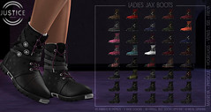 JUSTICE LADIES JAX BOOTS ([:.UNDERGROUND & JUSTICE.:]) Tags: secondlife fashion avatar virtualworld 3d 2ndlife maitreya slink physique hourglass belleza venus isis freya