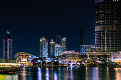 The Dubai Opera and Dubai Fountain (Szücs Balázs) Tags: dubai olympus dubaiopera city cityscape emirates jobygorillapod u43 dubaifountain nightphotography uae burjkhalifa m43 tallestbuildingoftheworld em1mk1 balinov milkywater mft dubaimall travel