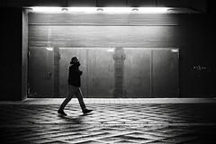 Back Door 2 (Guido Klumpe) Tags: reflection minimalminimalismminimalistischsimplereduced night nightshot nacht nachtaufnahme longexposure men contrast gegenlicht shadow schatten gebäude architecture architektur building perspektive perspective candid streetphotographer streetphotography strasenfotografie strase hannover hanover germany deutschland city stadt sw schwarzweis blackandwhite bnw bw atmosphäre bewegung drausen eineperson kontrast kunstlicht mann minimal monochrome nachts plätze regen silhouette spiegelung street