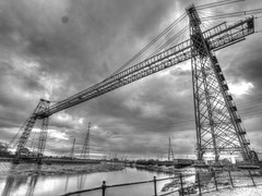 The Good Old Times of Industry (RS400) Tags: hsr hdr industry travel transport landscape black white wow cool wales newport south uk water river electricity old times photography olympus wide angle lens amazing outside power station bridge edit