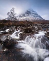 Buachaille Etive Mor I - Feb 2019 (Stu Meech) Tags: buachaille etive mor glencoe scotland waterfall passing rain nikon d750 1635 leefilters