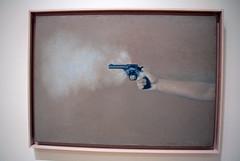 Gun with Hand #1, by Vija Celmins (JB by the Sea) Tags: sanfrancisco california december2018 financialdistrict sanfranciscomuseumofmodernart sfmoma vijacelmins painting