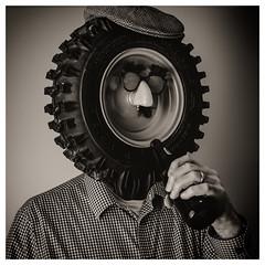 Just another Lughead (_Matt_T_) Tags: 365 smcpda55mmf14sdm selfie portrait dailyinfebruary relax af540fgz apolloorb43 beer wheel westcott cactusv6 bw tire explore 110