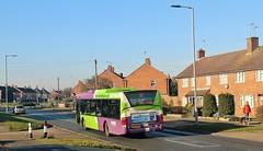 YN56 NVG, Ipswich Buses Scania Omnicity 75, Hawthorn Drive, 14th. February 2019. (Crewcastrian) Tags: ipswich buses ipswichbuses transport hawthorndrive scania omnicity yn56nvg 75
