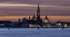 Sunset over San Giorgio Maggiore, Venice (Alona Azaria) Tags: italy italia sunset sangiorgiomaggiore venezia aftersunset venice twilight