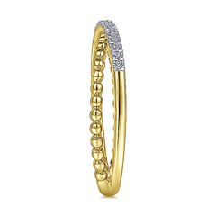 Split Shank Ring Features Strands Of Sparkling .09Ct Pave Diamonds And Overlapping Beaded 14k Yellow Gold (diamondanddesign) Tags: splitshankringfeaturesstrandsofsparkling09ctpavediamondsandoverlappingbeaded14kyellowgold lr51463y45jj gabriel ny gaby rings bujukan 009 ct fashion diamond 14k yellow gold bottom