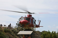 Arrival (adelaidefire) Tags: horseshoe bay fleurieu peninsula south australia helicopter bell 412er bell412er port elliot country fire service australian cfs sacfs sa state emergency ses coast surf life saving association slsa ambulance saas medstar mac motor accident commission retrieval vhvas