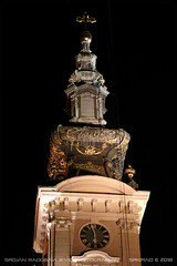 The Cathedral Church of the Holy Great-Martyr George in Novi Sad (srkirad) Tags: cathedral church orthodox christianity clock night roof dome cupola cross travel novisad serbia srbija