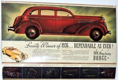 Vintage Dodge ad (Will S.) Tags: mypics heritageplacemuseum museum lyn ontario canada vintage dodge v8 advertising automobile advertisement old ad